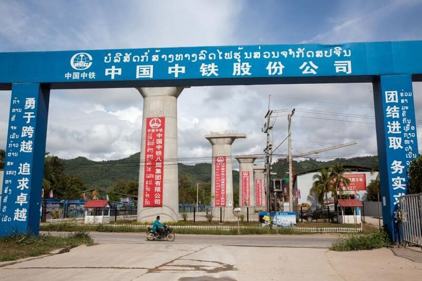 Piers for the Luang Prabang railway bridge, a section of the China-Laos Railway built by the China Railway Group Ltd., stand under construction near Luang Prabang, Laos, on Oct 21, 2018, as part of China's Belt and Road Initiative.