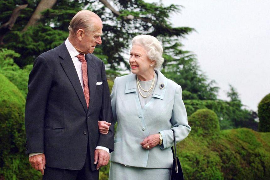 Britain's Queen Elizabeth II and her husband, Britain's Prince Philip, Duke of Edinburgh, at Broadlands, Hampshire, in 2007.