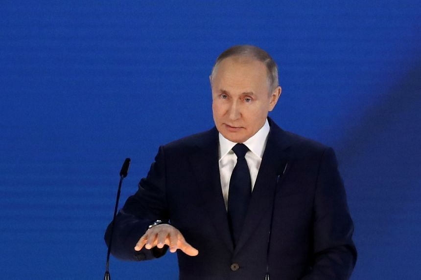 Russian president Vladimir Putin said Moscow strived to have good relations with other countries.