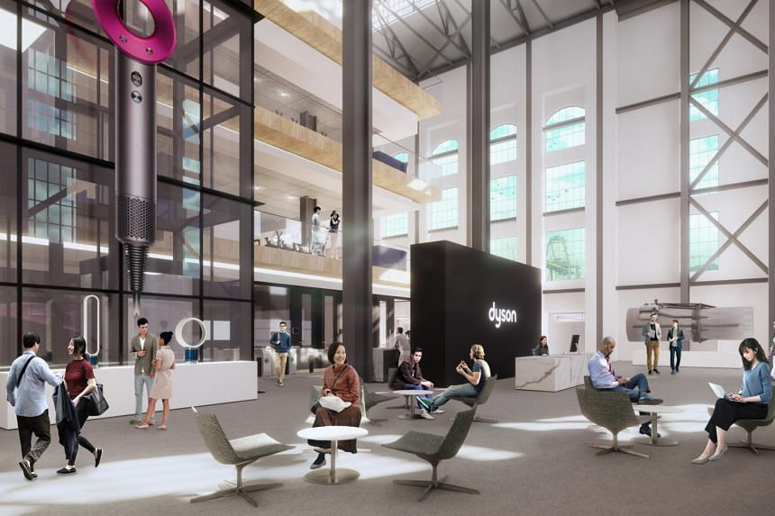 An artist's impression of the interior of St James Power Station, where Dyson is planning to open its new global head office.