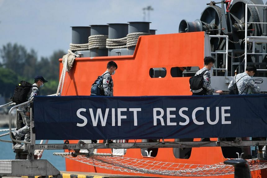 The Republic of Singapore Navy's MV Swift Rescue was dispatched expeditiously on April 21, 2021.