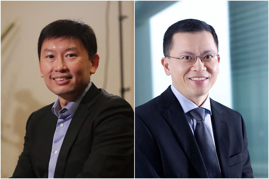 Senior Minister of State for Transport and Foreign Affairs Chee Hong Tat (left) and Permanent Secretary for Manpower Aubeck Kam.