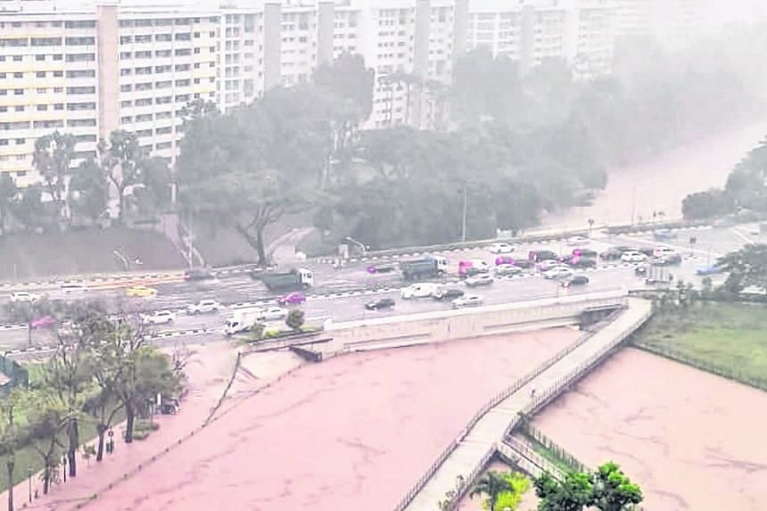 RECORD RAINFALL: Ulu Pandan last Saturday experienced Singapore's highest daily rainfall for April since 1980. The rain, which the authorities described as exceptionally prolonged and heavy, resulted in flash floods in several locations on the island