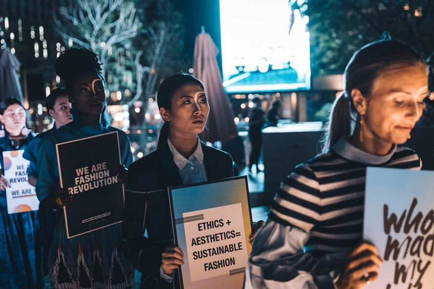 A Fashion Revolution Singapore event in 2019.