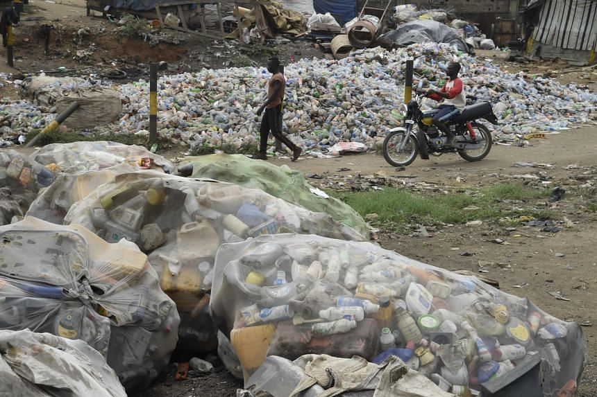 Plastic waste is ubiquitous in Lagos, where dropping litter is commonplace.