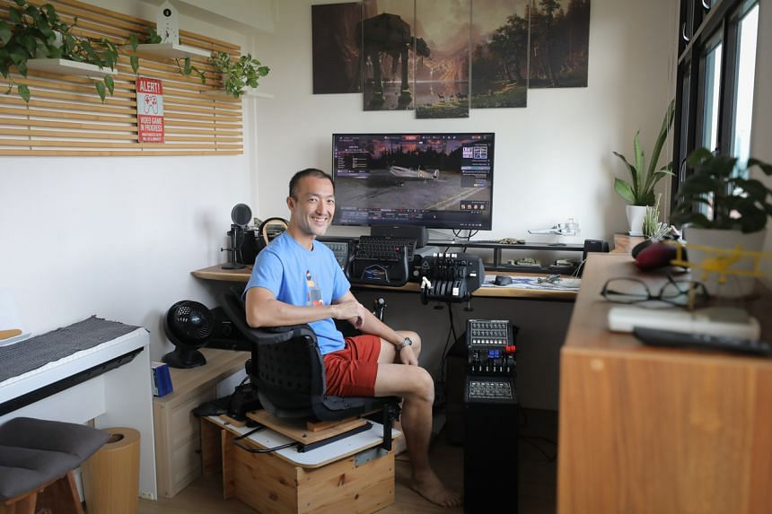Mr Norman Ng turned his two-room flat in Buangkok into an entertainment centre that people can book by the hour.