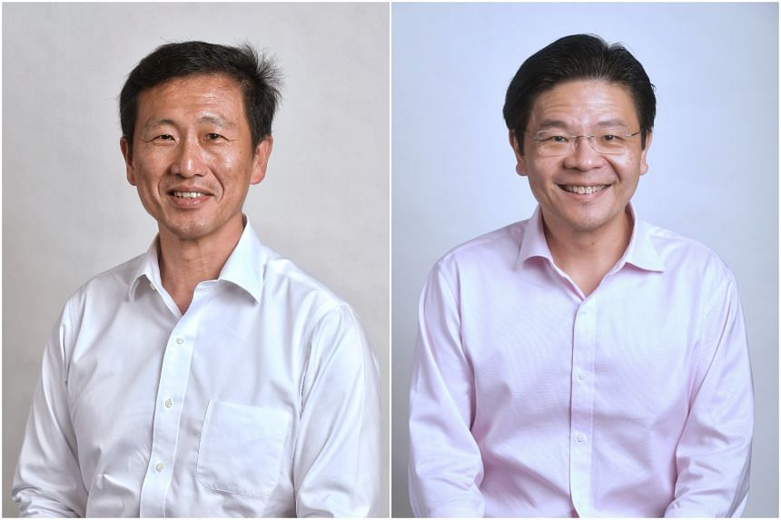 Mr Ong Ye Kung (left) will co-chair the task force tackling the Covid-19 pandemic with Mr Lawrence Wong.