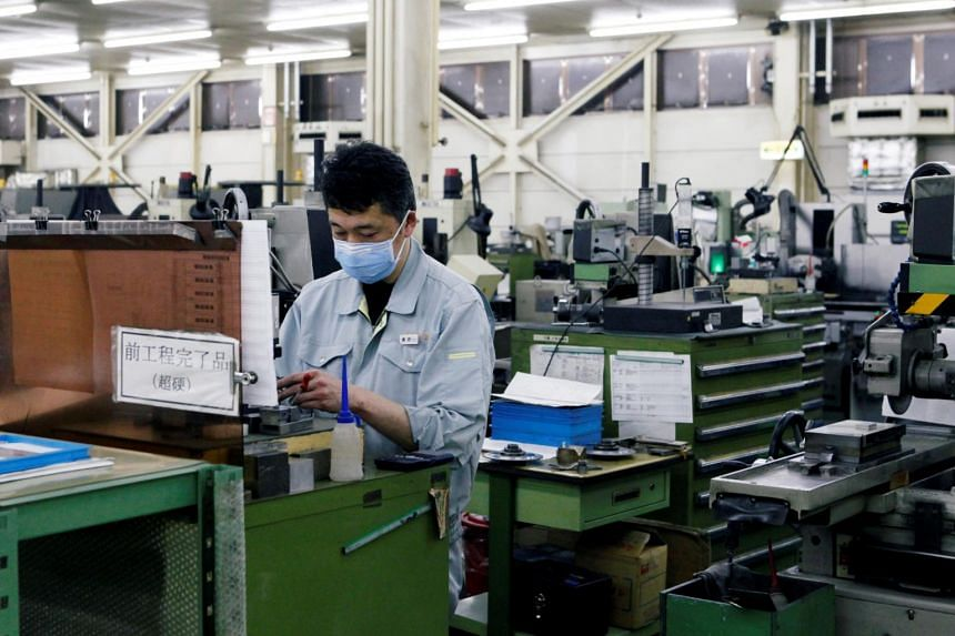 Japan's PMI survey showed that activity was helped by an improvement in orders at home and from overseas.