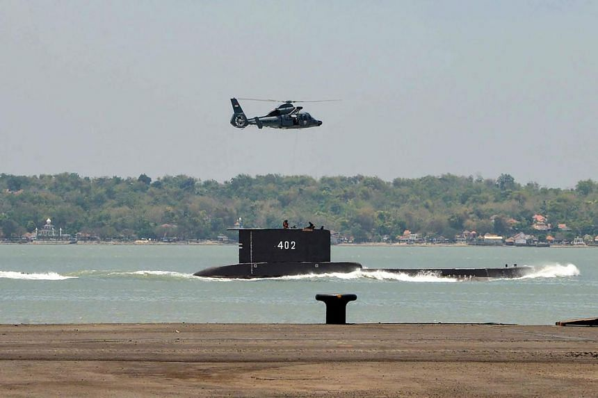 A handout photo of the Indonesian Cakra class submarine KRI Nanggala 402 setting out from the naval base in Surabaya.