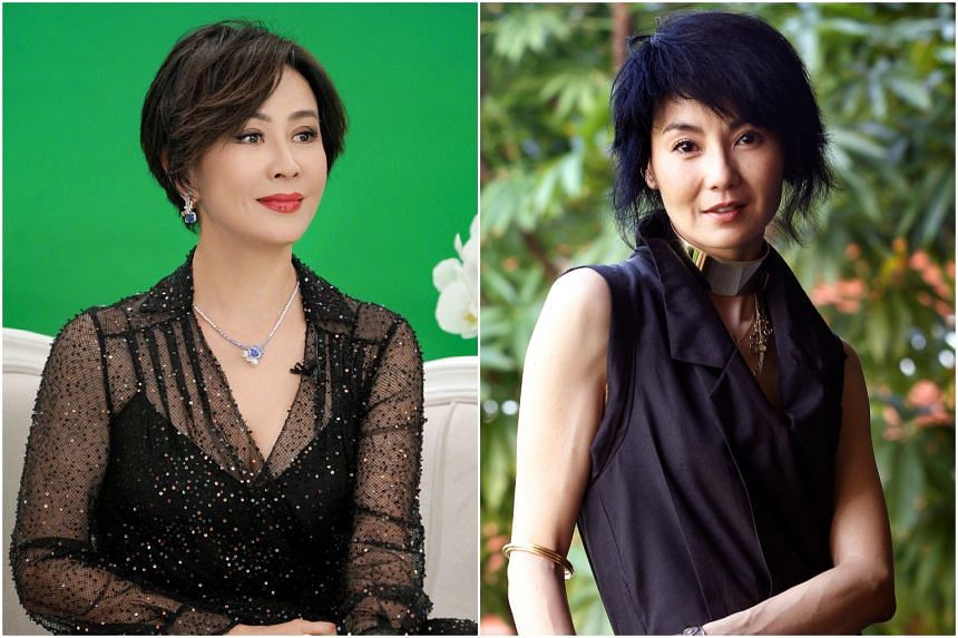 Hong Kong actresses Carina Lau (left) and Maggie Cheung.