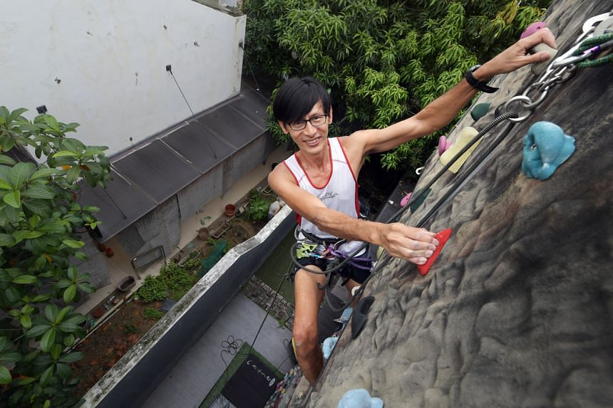 Rock climbing has brought Mr Chua Chee Beng to the brink of disaster, but it has also paved his way to recovery.
