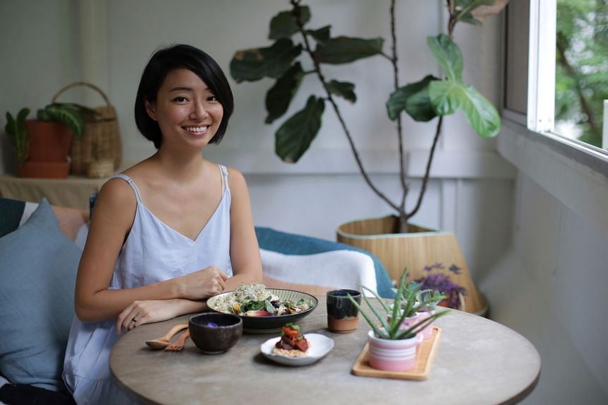 Ms Jacinda Yee opened home-based vegan cafe The Breakfast Club at her apartment.
