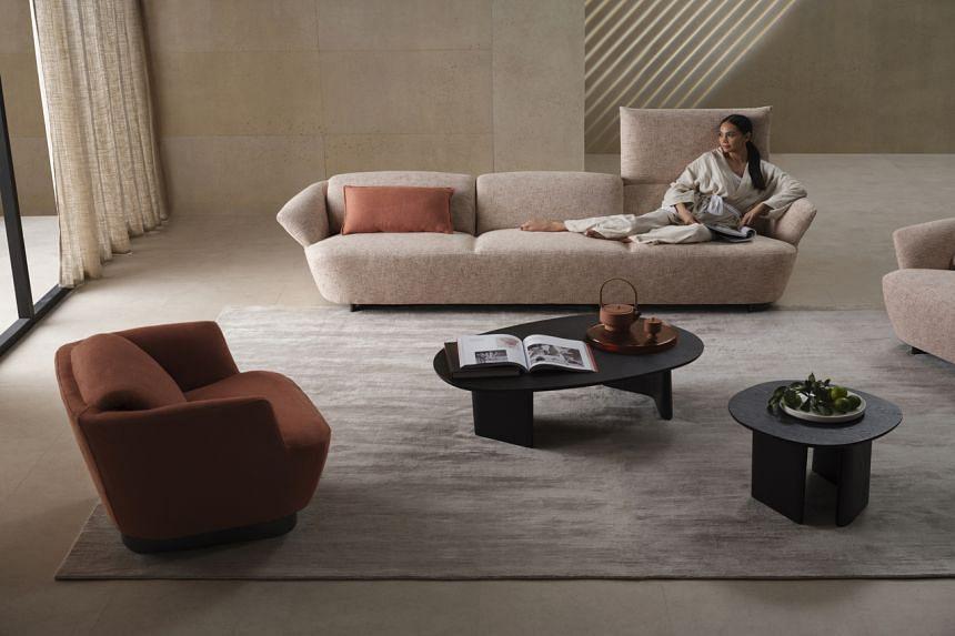 Australian furniture house King Living introduced its new sofa range called Fleur.