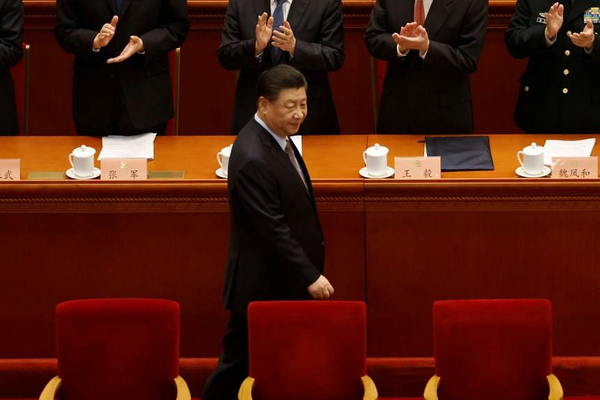 Chinese President Xi Jinping arriving at the opening session of the Chinese People's Political Consultative Conference in Beijing on March 4, 2021.