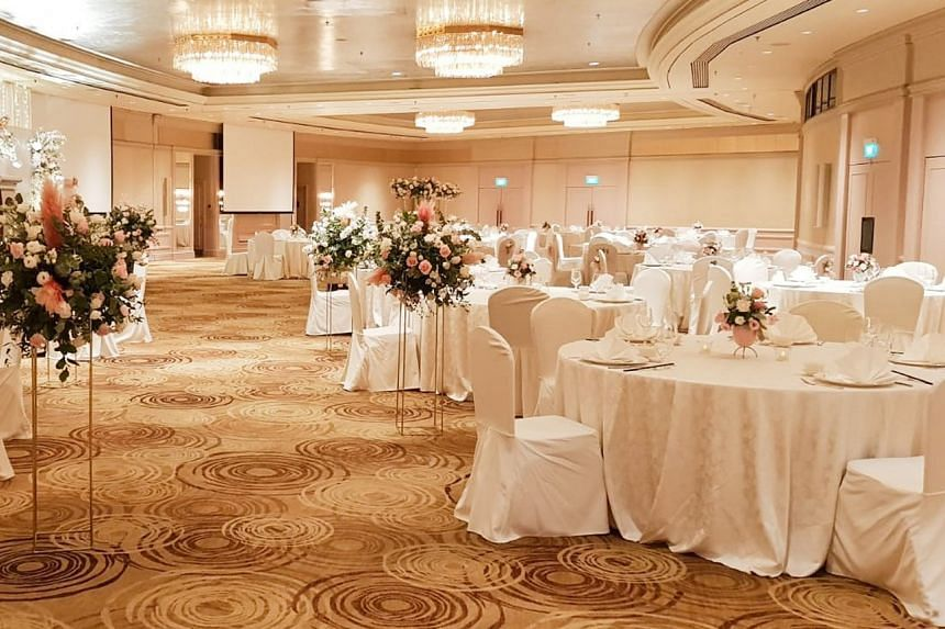 The Oriental Ballroom at Mandarin Oriental, Singapore. The hotel has arranged for pre-event testing to be done in its air-conditioned boardrooms.
