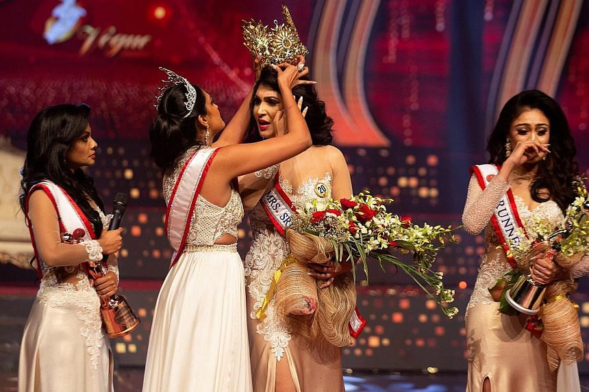 Veteran comedian-host Steve Harvey (above) slipped up twice when hosting the Miss Universe pageants, including mistakenly indicating Miss Malaysia Shweta Sekhon (left) as the winner of Best National Costume in 2019.