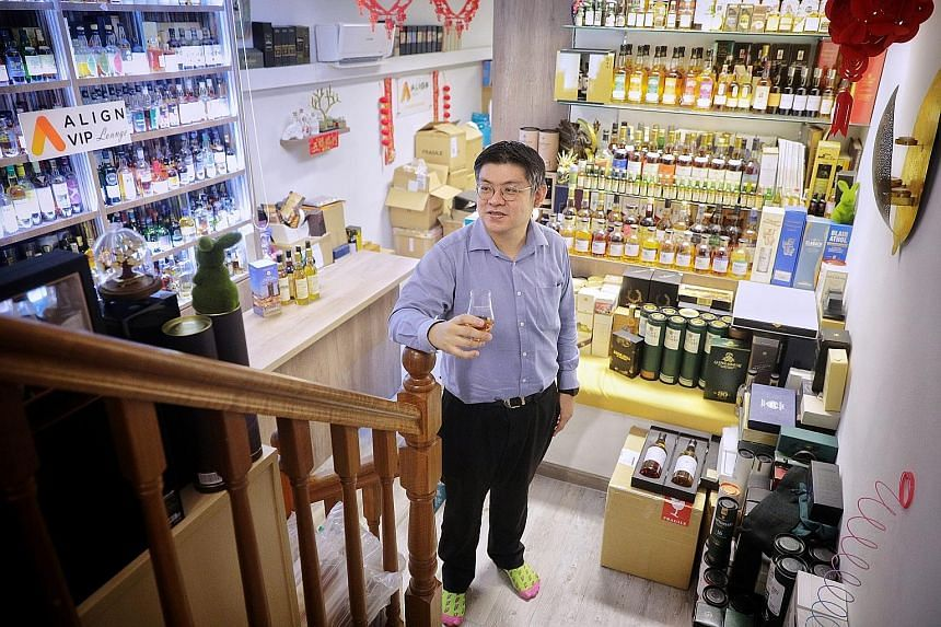 Mr Low Boon Seong, the founder and managing director of human resource consultancy and outsourcing firm Align Group, is also an investor in whiskies. About one-third of his portfolio consists of 3,000 bottles of whisky, including some older bottles o