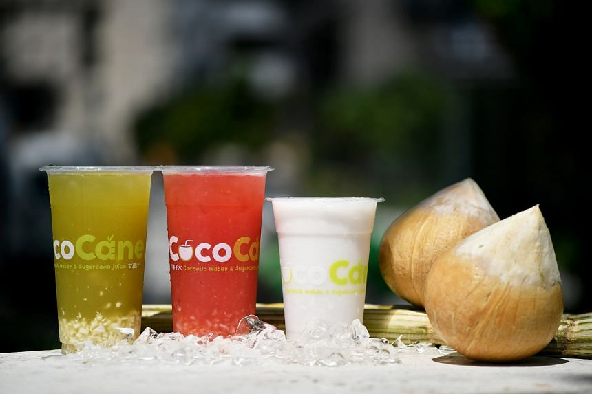 The shakes are usually made with coconut water from Thailand.