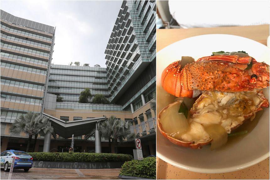 Mount Elizabeth Novena Hospital's wok-fried lobster for patients.