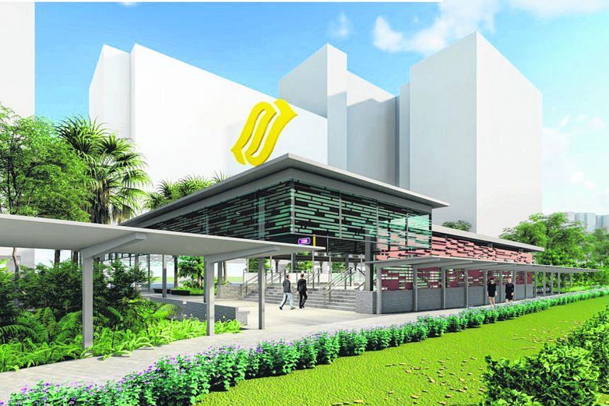 An artist's impression of Pasir Ris interchange station on the Cross Island Line. Construction works are slated to start in the fourth quarter of this year, with the station scheduled to open in 2030.