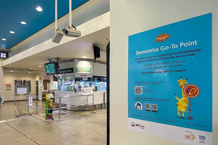 A total of 17 SMRT train stations and five bus interchanges have been listed as dementia go-to points, where the community can learn more about dementia and be linked to dementia-related services.