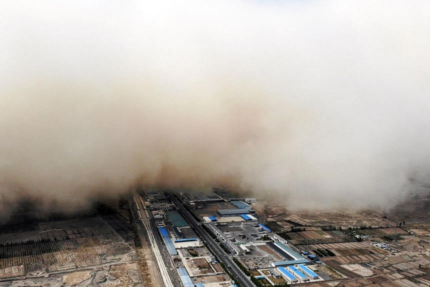 China suffers from enormous dust storms each spring.
