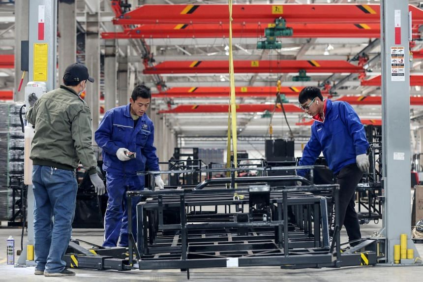 Profits rose to 711.18 billion yuan (S$145.5 billion) in March, up 92.3 per cent from a year ago.