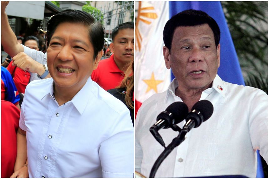Mr Ferdinand Marcos Jr (left) and Mr Rodrigo Duterte offer their supporters a politics of decisive leadership rather than a liberal democratic vision.