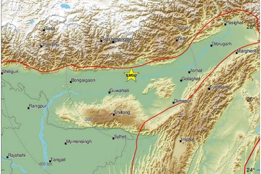 The quake was at a depth of 10km, EMSC said.