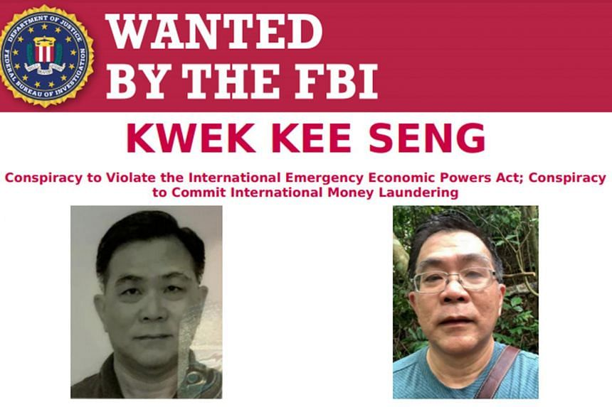 Kwek Kee Seng is wanted in the United States for allegedly flouting sanctions by doing business with North Korea and laundering money.