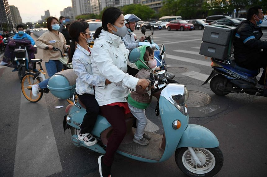 A population drop will add pressure on Beijing to roll out measures to encourage couples to have more children.PHOTO: AFP