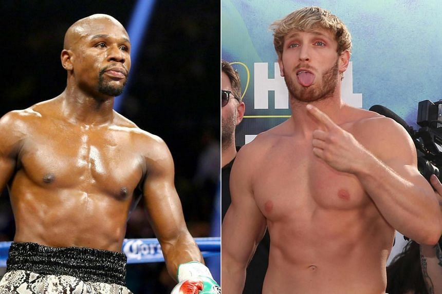 Floyd Mayweather (left) will face off against Logan Paul in an exhibition bout at Miami's Hard Rock Stadium on June 6, 2021.