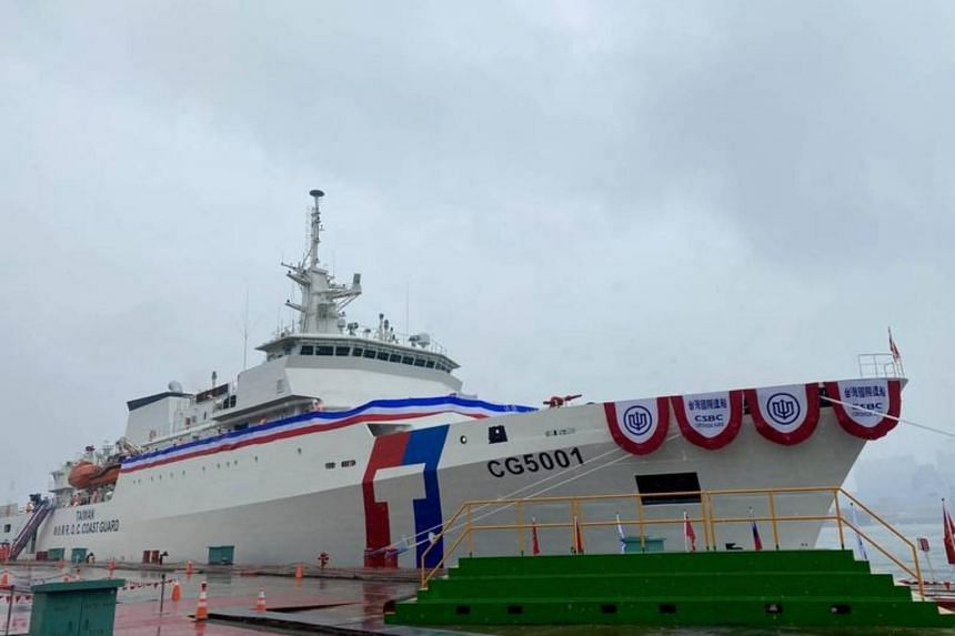 The 4,000-tonne Chiayi is the coast guard's largest ship.