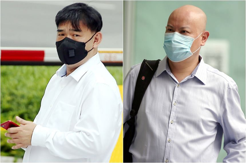 Ivan Koh Siong Wee (left) was sentenced to four years and four months' jail, and ordered to pay a penalty of $229,000. Company director Low Pok Woen, who had given the bribes, was jailed for four years.