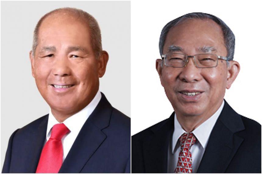 Mr Bob Tan Beng Hai (left) will succeed Mr Lim Jit Poh as chairman of SBS Transit.