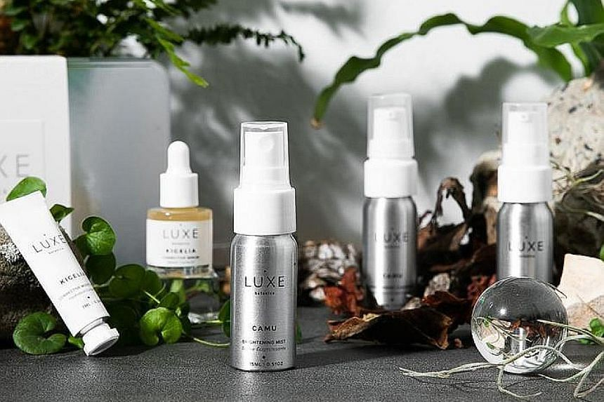 (Above) Rainforest Revival Discovery Kit from Luxe Botanics, $75. Ms Jene Roestorf in Kenya in 2019.