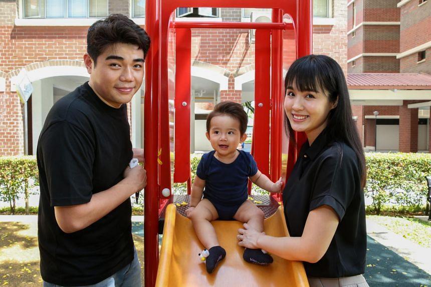 Ms Tio Chai San with her husband Mr Joshug Cheong Koi Kit and her son Jordan Cheong Zhe Hao on April 18, 2021.