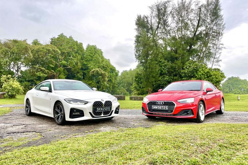 The Audi A5 Coupe 2.0 exudes class, while the BMW 420i Coupe's dramatic looks set the pulse racing.