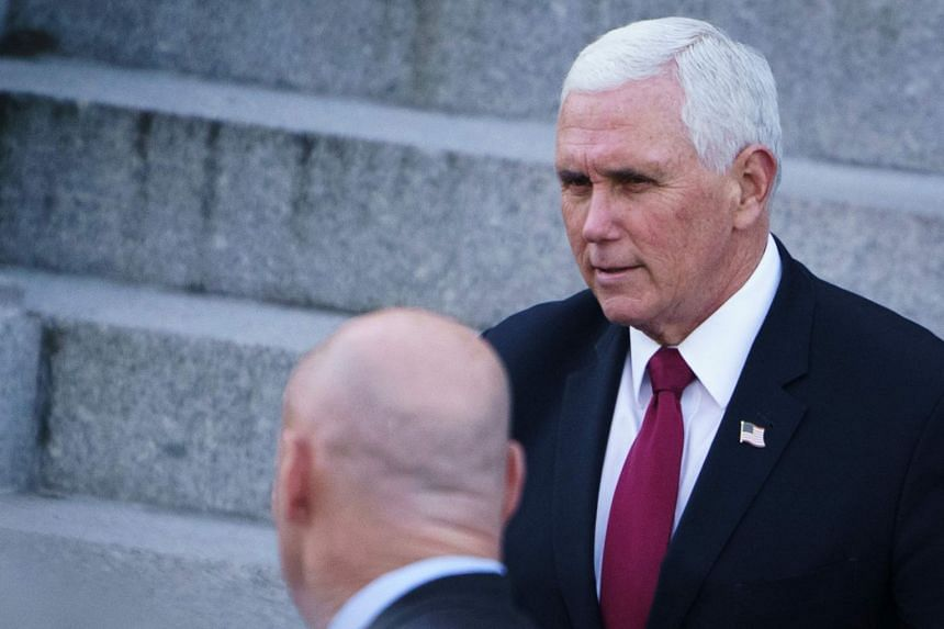 Mike Pence (above) is making his first public appearance since leaving office in the early presidential primary state of South Carolina.