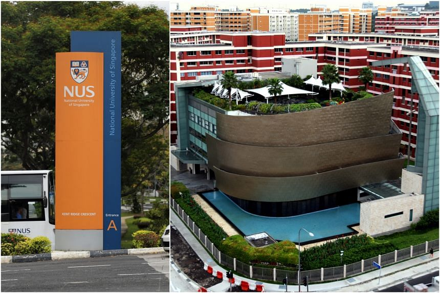 A foodcourt at the National University of Singapore (left) and City Harvest Church were among places visited by Covid-19 patients while they were still infectious.