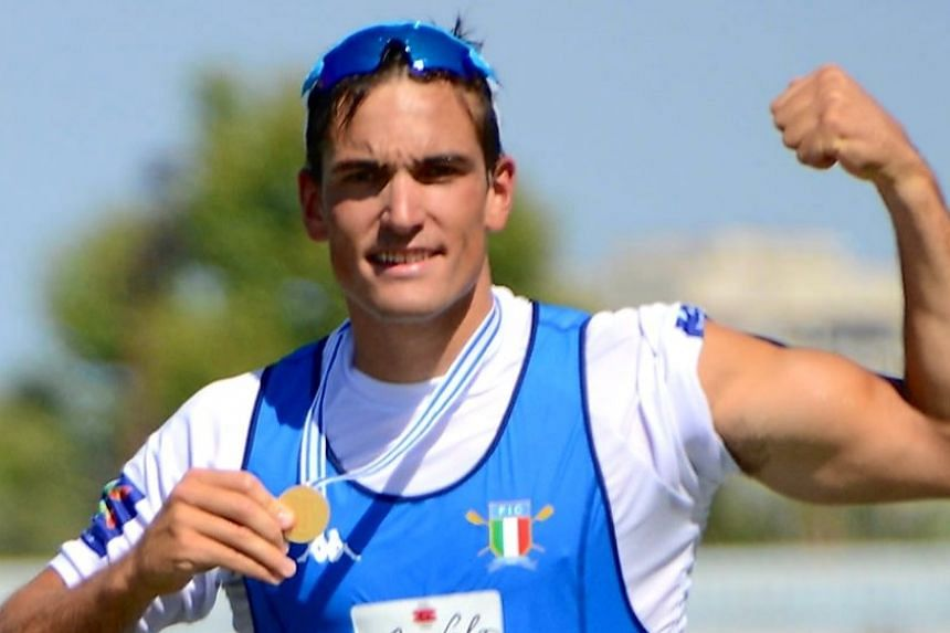 The Italian Olympic Committee paid tribute to Mondelli (above), who won the world quadruple sculls title in 2018.