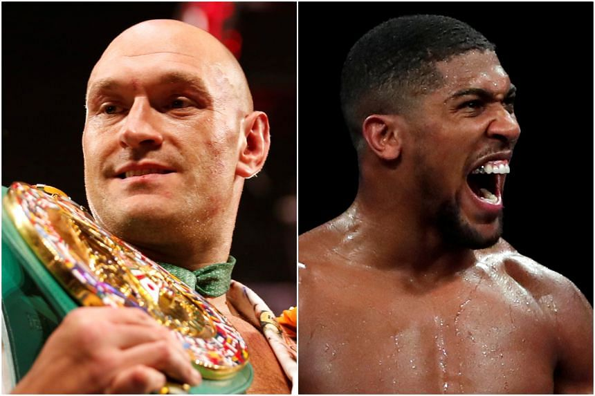 """The promoter of Tyson Fury (left) said that his bout against Anthony Joshua is """"dead in the water""""."""