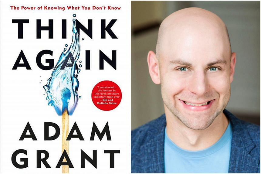 Adam Grant's Think Again has become a runaway hit, snagging the top spot on the New York Times bestseller chart.