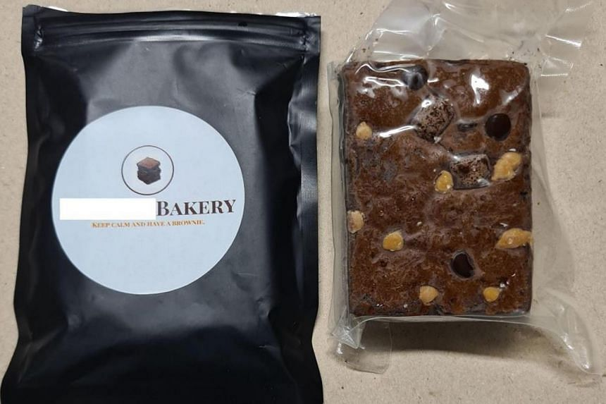 Cakes believed to be infused with cannabis recovered from a residential unit in the vicinity of Upper Cross Street, on April 28, 2021.