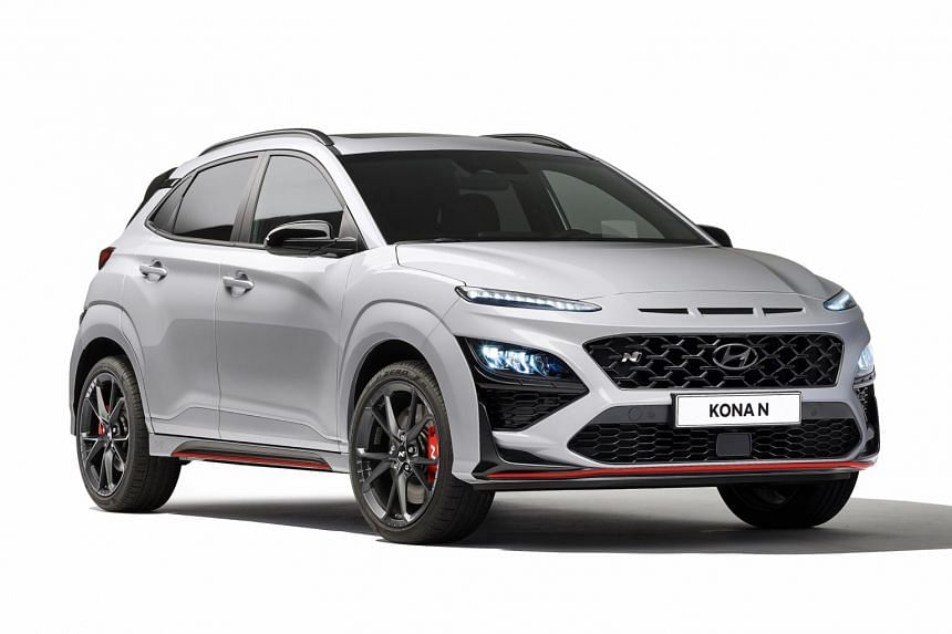 The Hyundai Kona N comes with launch control, five drive modes and a throaty exhaust.