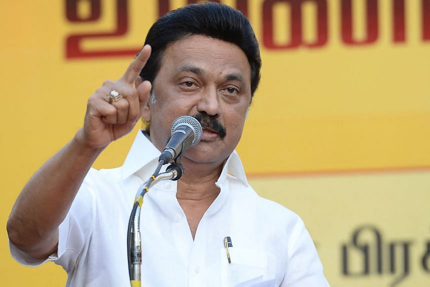 Exit polls suggested Mr M.K. Stalin's party had won the elections across Tamil Nadu by a big margin.