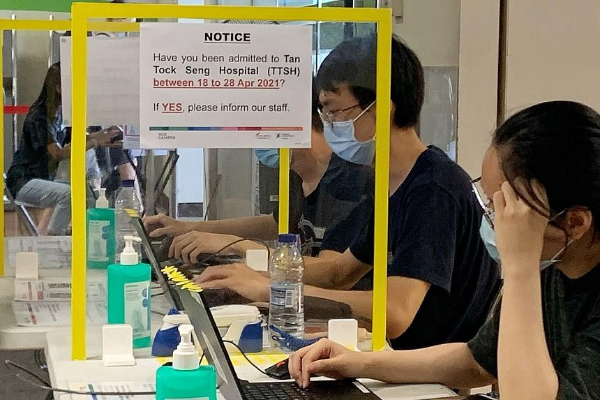 At least 61 patients, including those with confirmed infections, have been transferred so far to the National Centre for Infectious Diseases for treatment. Tan Tock Seng Hospital has placed 76 staff who had been in close contact with them on leave of