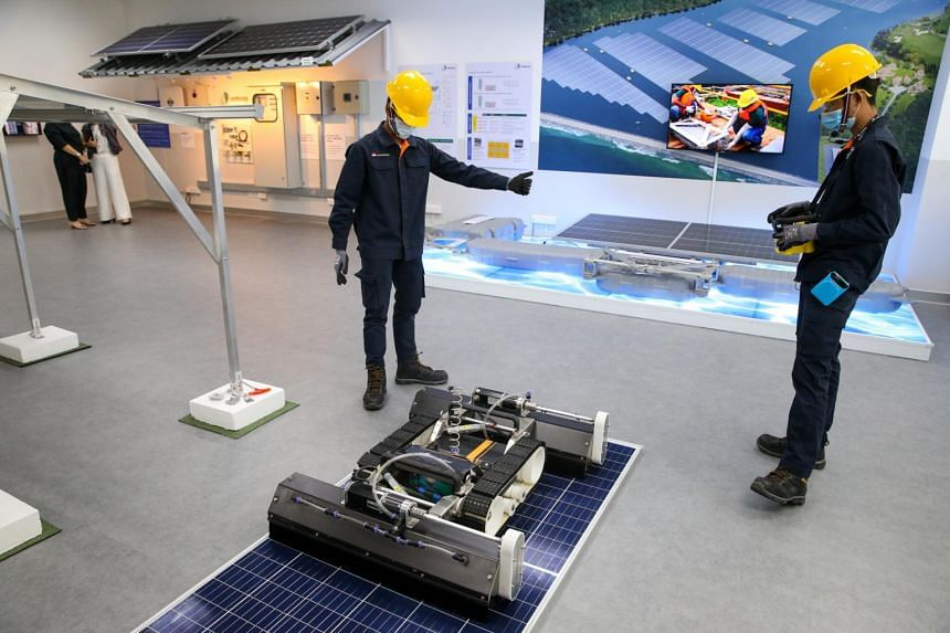 The ITE-Sembcorp Centre for Sustainable Solutions is fitted with technology used in generating electrical power from the sun - known as photovoltaic systems.
