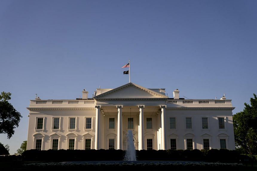 Most White House officials, like many workers across the US, continue to work from home.