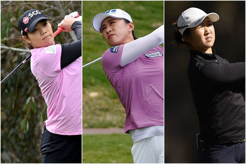 (From left) Ariya Jutanugarn, Amy Yang and Yan Jing  are back in the game in the chase for Olympic success in Tokyo.